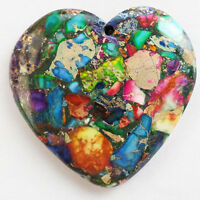 Q34253 Beautiful Rainbow Sea Sediment Jasper&Pyrite heart pendant bead