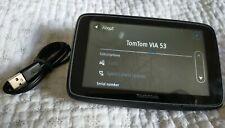 TomTom VIA 53 Sat Nav Europe Lifetime Maps Traffic WiFi Updates no PC