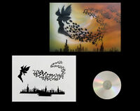 Airbrush Schablone / Step by Step / Stencil / 0575 fliegende Fee & Anleitungs CD