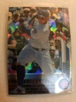2020 Topps Chrome Silver Refractor Anthony Rizzo #71 Chicago Cubs SP Insert