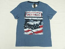 $39 NWT Mens Buffalo David Bitton T-Shirt NARDIN V-Neck Graphic Tee Size L N037
