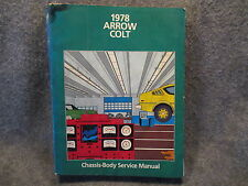 1978 Chrysler Arrow Colt Chassis Body Service Manual 81-070-8705 Guide Book U686