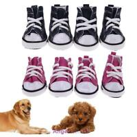 Cute Pet Dog Boots Puppy Denim Canvas Sports Shoes Sneakers For Small Dogs