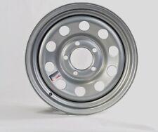"""Trailer Rim Wheel 15"""" x 6"""" 15x6 5 Lug Hole Bolt Wheel Silver Modular Design"""