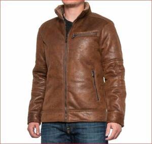 new BUFFALO David Bitton men jacket coat B627094 coat brown sz L $140