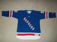 Reebok Henrik Lundqvist New York Rangers Blue #30 Youth Boy's L/XL Jersey EUC
