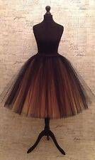 Black Nude blush Tulle Skirt net petti vintage Wedding 50s rockabilly Prom Party