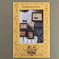 Scrapbag Stitcheries Hand Embroidery Patterns Cat Alphabet Flowers Moon Star new