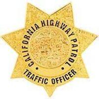 CALIFORNIA HIGHWAY PATROL CHP OFFICER POLICE TRAFFIC OFFICER GOLD   BADGE PIN