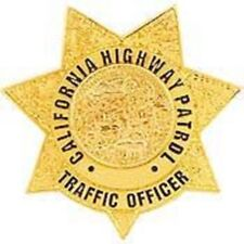 CALIFORNIA HIGHWAY PATROL CHP OFFICER POLICE TRAFFIC OFFICER GOLD   BADGE PIN