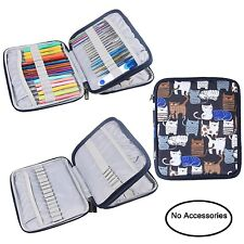 Organizer Case for Interchangeable Circular Knitting Needles Crochet Hooks Bag