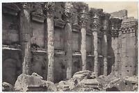 Siria Libano Baalbeck Heliopolis Vintage Albumina Ca 1880
