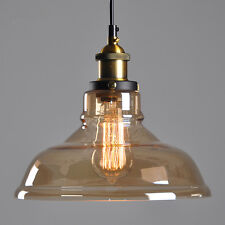 Smoked Glass Pendant Light Vintage Ceiling Lights Kitchen Lighting Bedroom Lamp