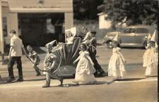 Halloween? Parade Float, Kids In Costumes ca 1940s Vintage Photograph