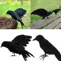 Künstliche realistische Waldschwarz-Krähen-Vögel Halloweens für Garten-Ausg LZ