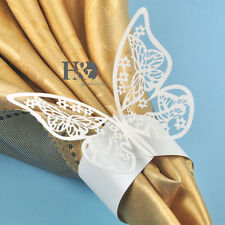 12 Ivory Butterfly Napkin Rings Holders Wedding Banquet Party Favor Table Decor