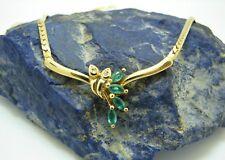 Smaragd Diamanten Collier Kette 750 Gold 18 Karat ca. 42 cm Goldkette