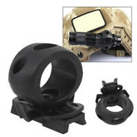 Tactical Rail Clamp Flashlight Holder Clip Mount Accessories Fast Helmet Tool KV