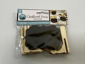 Amscan 6 Pieces Chalk Board Easels Food Catering 3 X 3.5 In.