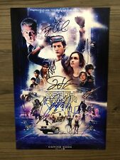 READY PLAYER ONE signed 12X18 cast photo ~ SHERIDAN ~COOKE ~WAITHE~PEGG ~ 8 sigs
