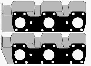 EXHAUST MANIFOLD GASKET FOR MITSUBISHI 6G72 3.0 12V MAGNA PAJERO TRITON VERADA