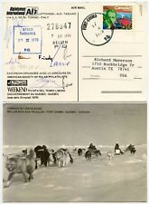 ARCTIC DOG SLED CARRIED COVER SIGNED POLAR 1975 FORT CHIMO CANADA