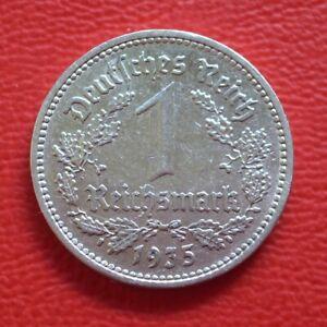 1 Reichsmark 1935 A vf / Third Reich / German Km# 78 J#354