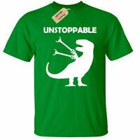 KIDS BOYS GIRLS Unstoppable T-Shirt Funny Dinosaur t rex tee gift graphic