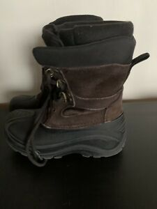 KAMIK INSULATED LEATHER TOP SNOW BOOTS SIZE 2