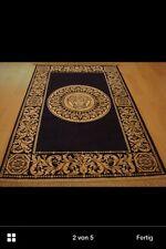 Seiden Teppich barock Gold-Schwarz 110x70cm Barock medusa Versac  Rug Carpet