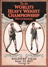 GENE TUNNEY vs JACK DEMPSEY 8X10 PHOTO BOXING POSTER PICTURE