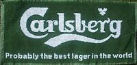 Carlsberg Probably The Best Lager Cotton Bar Towel 490mm x 230mm   (pp)