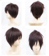 Attack on Titan Eren Jaeger Full Cosplay Wig Short Brown Synthetic Hair Wig