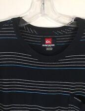 Quiksilver Striped One Pocket Tee Shirt Throwback Black Men's Large