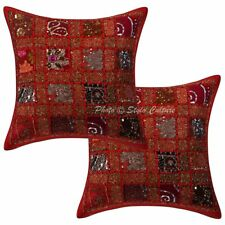 Ethnic Patchwork Pillow Cushion Cover Indian Home Decor Pillow Case Throw