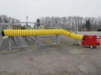 Zeltheizung Warmluftschlauch 625 mm Luftschlauch Befestigungsgurte 7,6 meter NEU