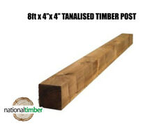 "8ft x 4"" x 4"" Tanalised Timber Post"