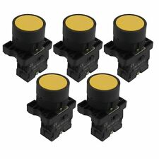 5 x 22mm 1 NO N/O Yellow Sign Momentary Push Button Switch 600V 10A ZB2-EA51