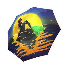 The Moon and the Mermaid Rain Umbrella Wind Resistant Foldable Umbrella