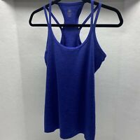 Gaiam Blue Heathered Racer Back Tank Size Small
