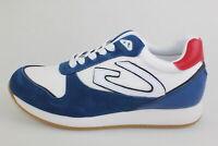 scarpe uomo GUARDIANI 40 sneakers bianco pelle camoscio DJ11