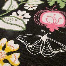 IKEA black cotton home decor fabric floral Sissi Edholm BTHY half yard