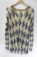 SASS & BIDE light Weight Printed Long Sleeve Top Knit Size L 10-14