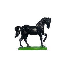 Black Stallion Estatua, Casa De Muñecas ornamentales Caballo Figura 1.12 Escala Miniatura