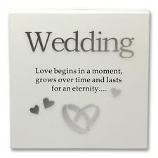 Said with Sentiment 7102-WT-WED Wall Art Block Wedding