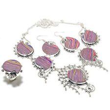 Rainbow Calsilica Handmade Ethnic Style Jewelry Set  S-33