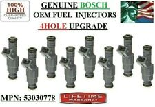 OEM BOSCH x8 Reman Fuel Injectors (96-98 Jeep Grand Cherokee 5.2L) 4HOLE UPGRADE