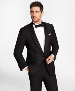 BROOKS BROTHERS Black Shawl Collar MADISON FIT Tuxedo Dinner Suit Jacket UK42