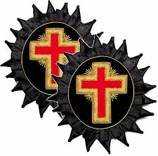 SET Knight Templar Past Commander Chapeau Cross with Rosette bullion KT Chapeau