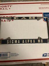 Sigma Alpha Mu Metal License Playe Frame EAM Fraternity